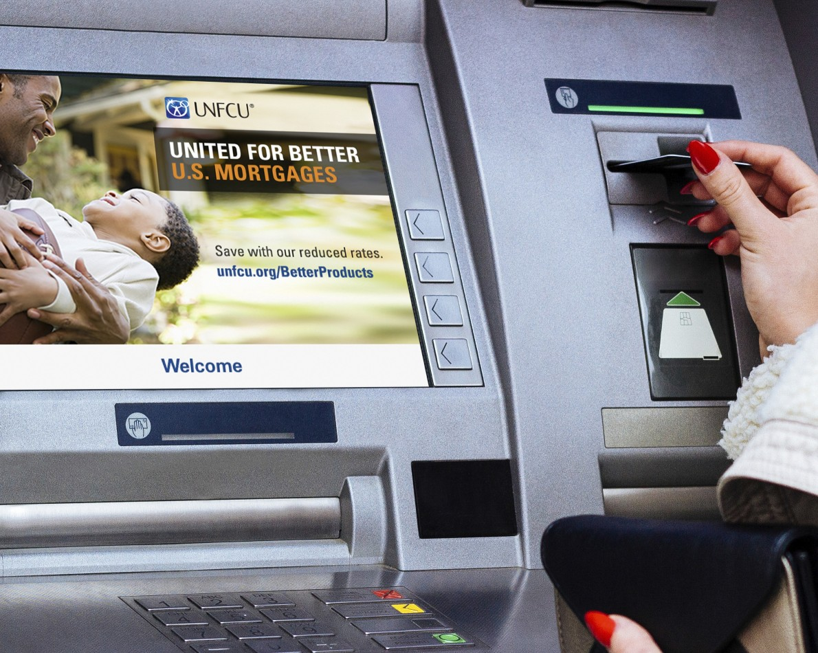 Bringing the Mortgage Campaign to the people via ATM screens to capture more eyes