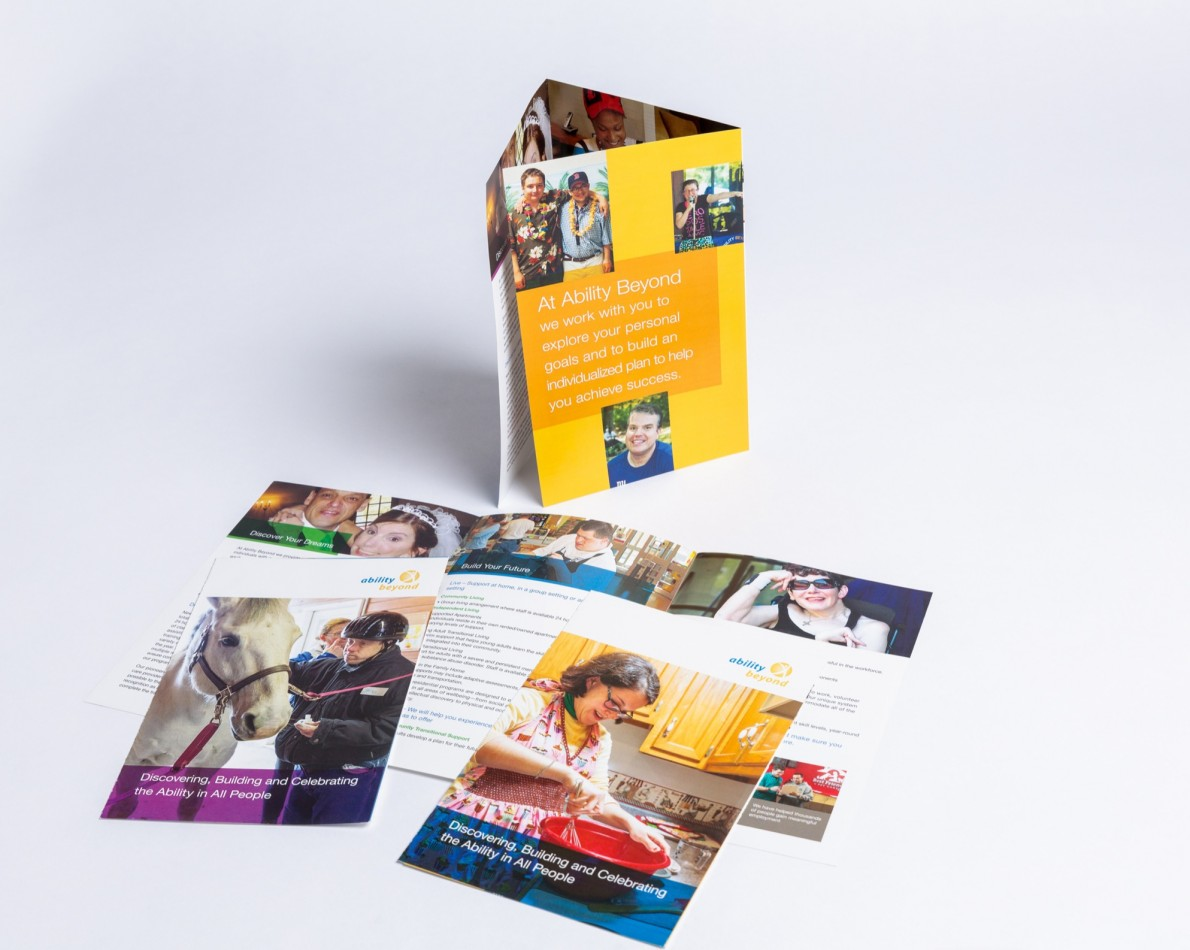 The brand refresh included a redesign of the entire collateral system – this brochure is for the NY/CT area