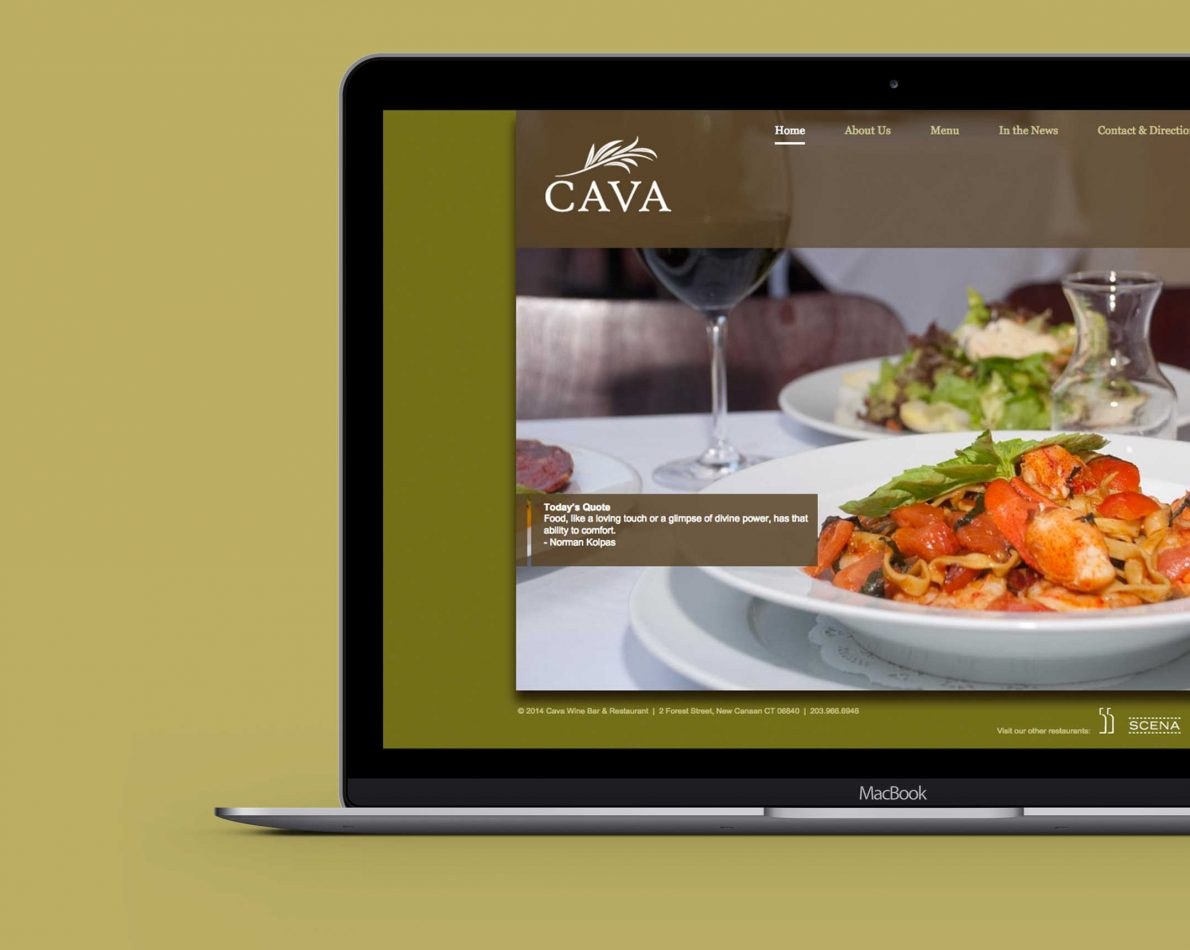 Cava home page web design