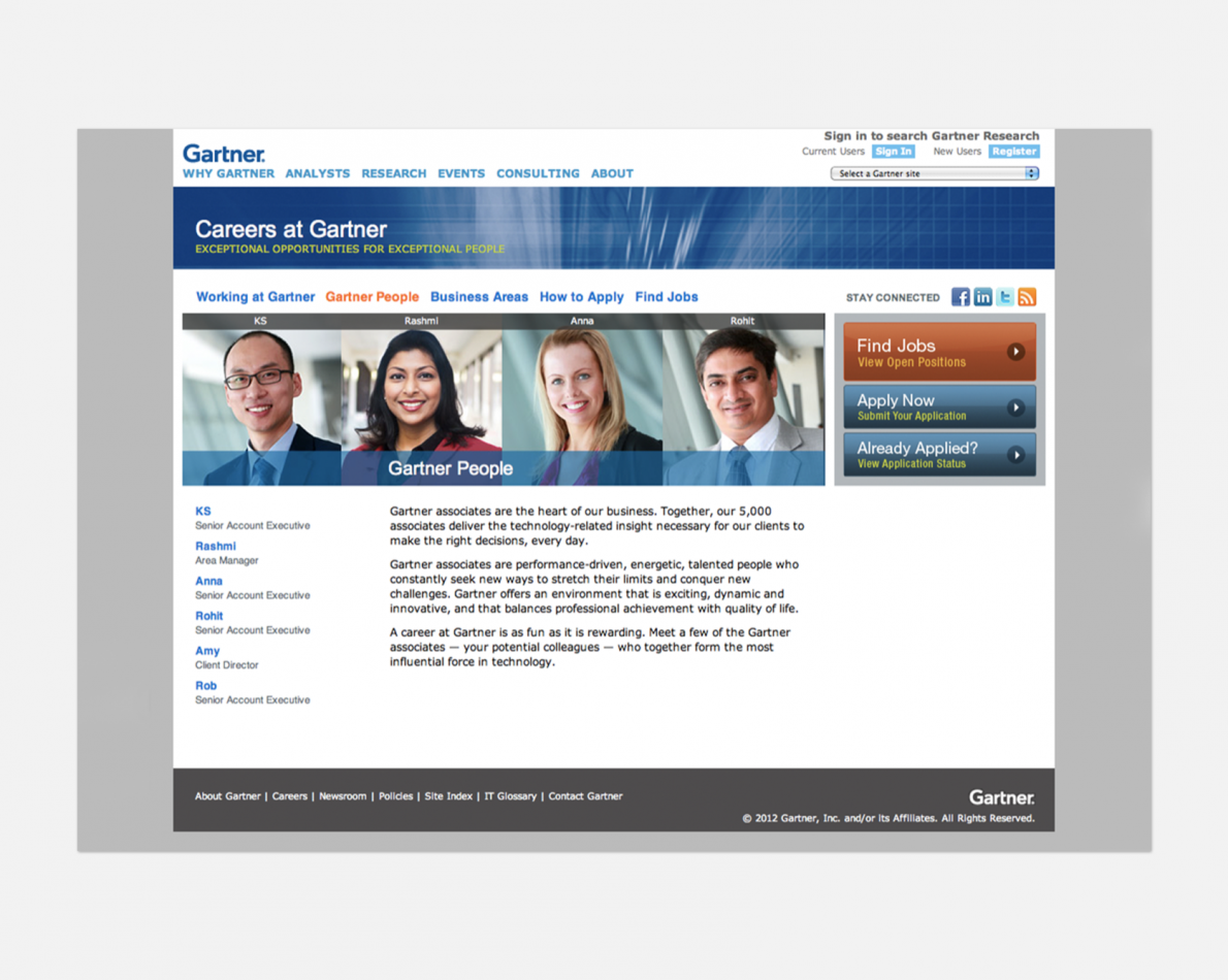Refreshed and redesigned Careers website.