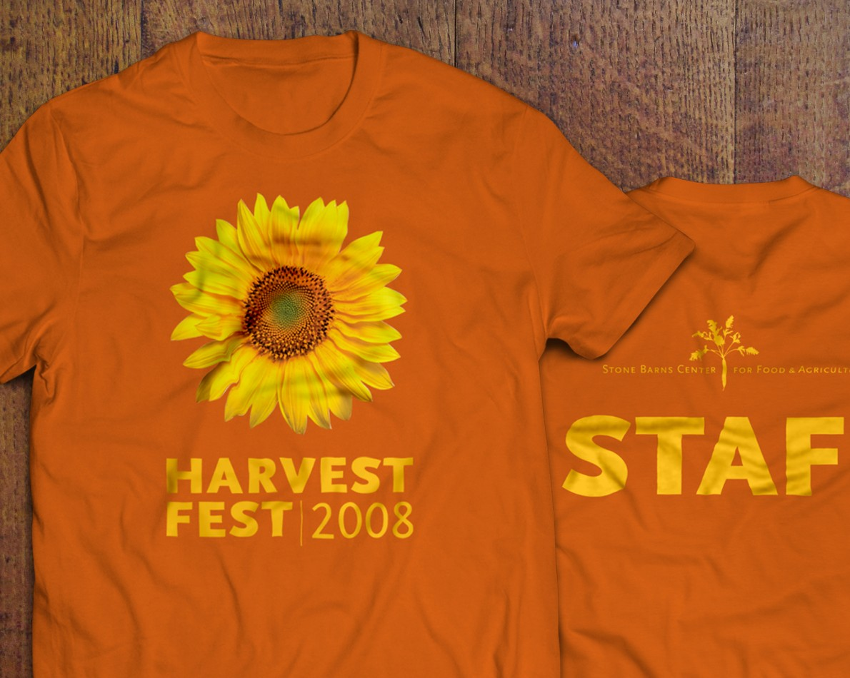 The staff of Stone Barns need to stand out – we helped design an eye-catching, easy to spot t-shirt for the annual Harvest Fest.
