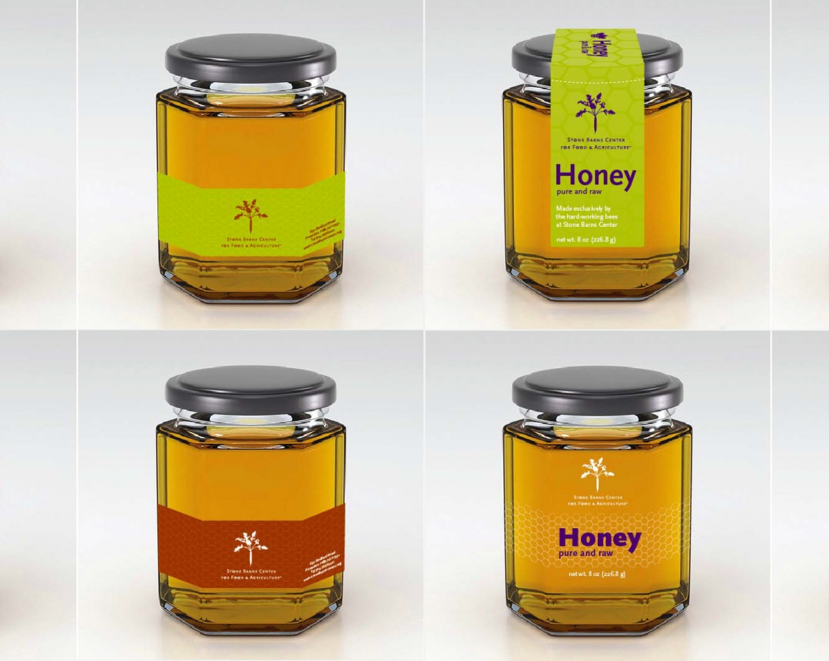 We like giving our clients options – the various iterations we created for their locally grown honey packaging reflects the simplicity they desire without sacrificing visual branding identity.