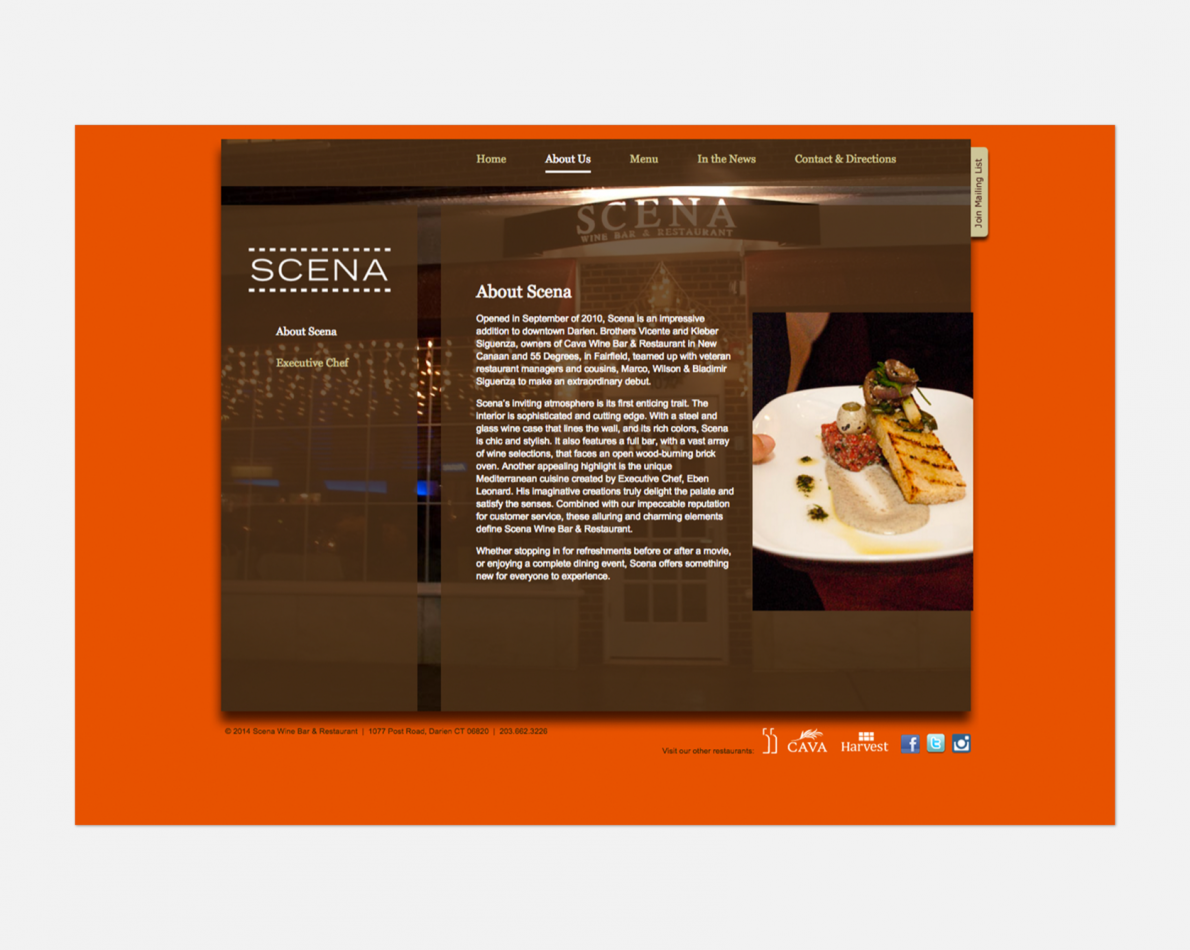 A new website design positively affected how the restaurant was perceived.