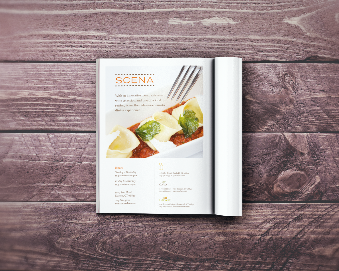 One of many ads we have done for the restaurant.