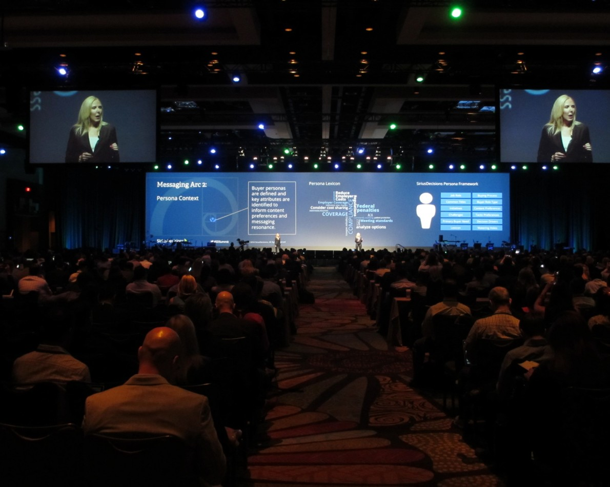 Larger than life. A JB Design specialty – extended PowerPoint presentations that take center stage. This one designed for SiriusDecisions' 2014 Summit Conference.