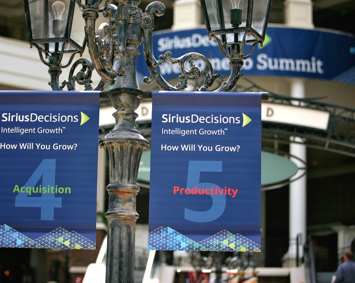 Event signage for the 2015 Summit Conference reflected the new design disciplines.