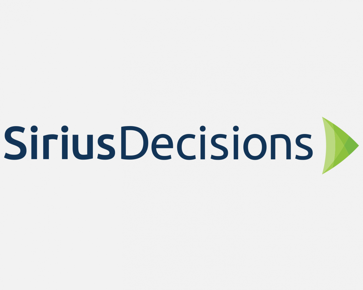 "We arrived at the green arrow accompanied by a more approachable use of typography in a ""CamelCase"" treatment. The choice of font and color helped drive the rest of the rebranding. The message: ""SiriusDecisions guides the way and is constantly moving forward."""