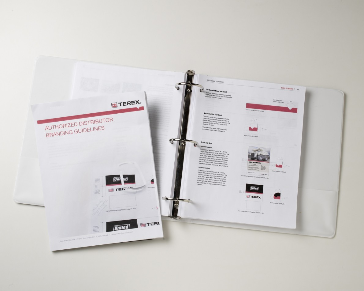 Brand Manual is available online, along with Terex logos and customizable marketing templates