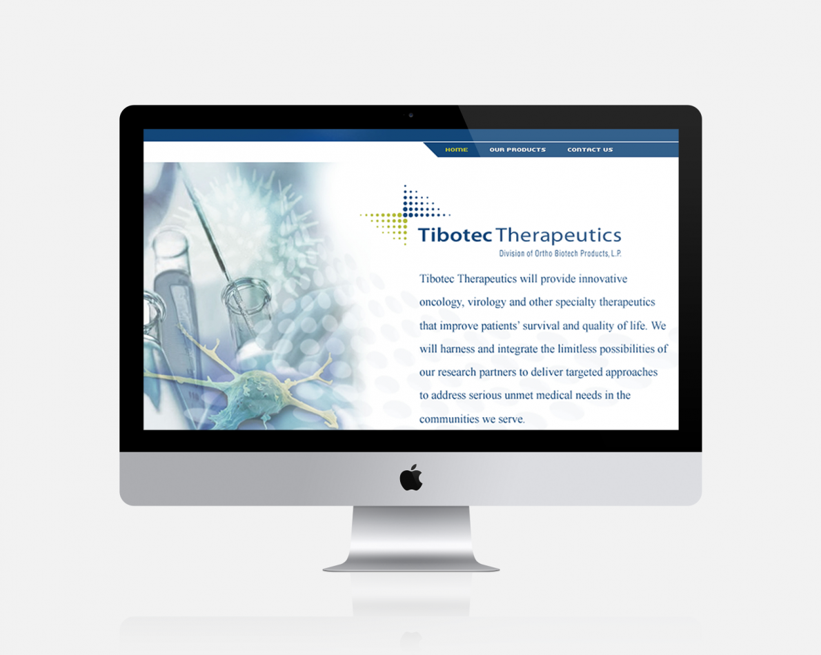 We designed a fresh new website for Tibotec.
