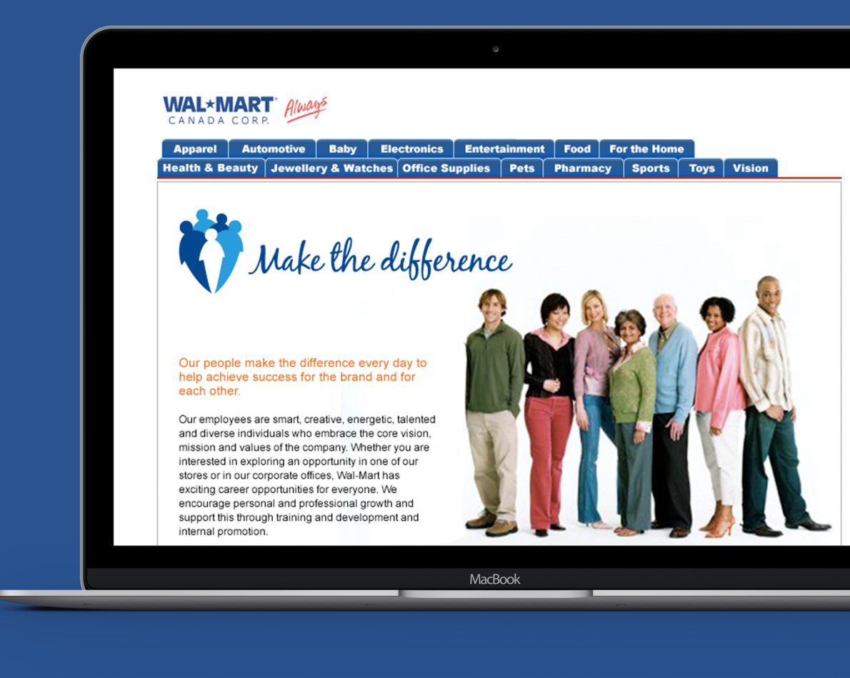 "We developed a new Careers website to engage the right people who could help ""Make the difference""."
