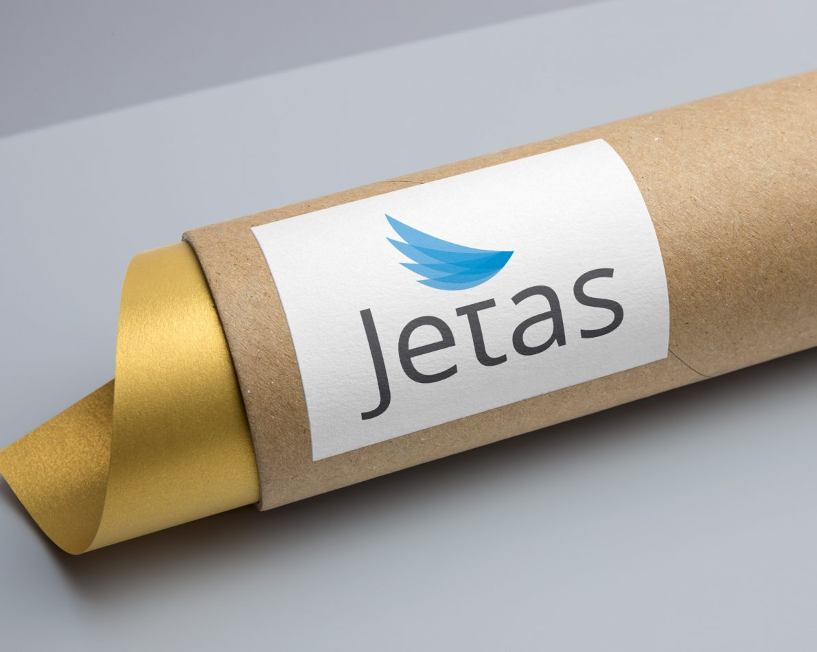 The new Jetas logo featured wings to reinforce the idea of effortless air transportation.