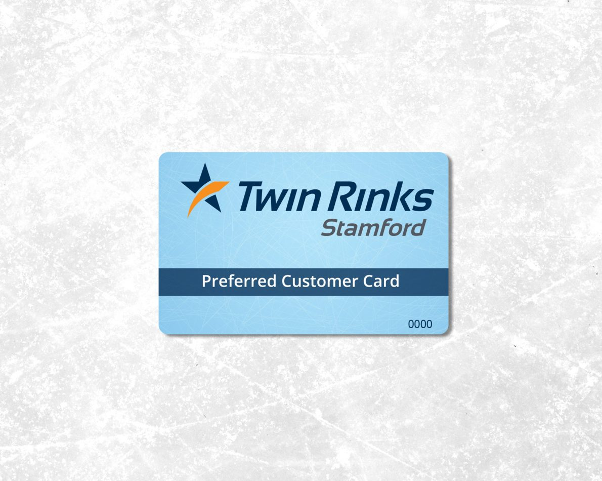 Member rewards card we designed for Twin Rinks.
